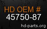 hd 45750-87 genuine part number