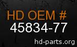 hd 45834-77 genuine part number