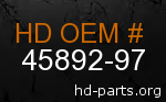 hd 45892-97 genuine part number