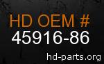 hd 45916-86 genuine part number