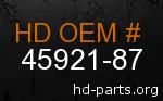 hd 45921-87 genuine part number
