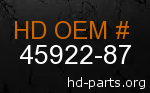 hd 45922-87 genuine part number
