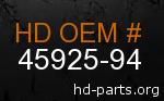 hd 45925-94 genuine part number