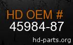hd 45984-87 genuine part number