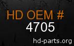 hd 4705 genuine part number