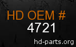 hd 4721 genuine part number
