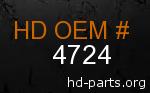 hd 4724 genuine part number