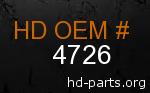 hd 4726 genuine part number