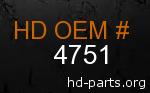 hd 4751 genuine part number
