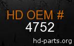 hd 4752 genuine part number