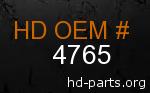 hd 4765 genuine part number