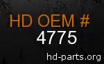 hd 4775 genuine part number