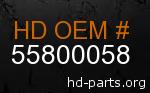 hd 55800058 genuine part number