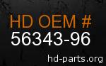 hd 56343-96 genuine part number
