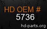 hd 5736 genuine part number