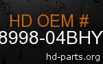 hd 58998-04BHY genuine part number
