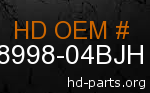 hd 58998-04BJH genuine part number