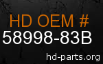 hd 58998-83B genuine part number