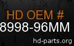 hd 58998-96MM genuine part number