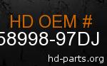 hd 58998-97DJ genuine part number