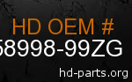 hd 58998-99ZG genuine part number