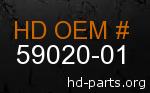 hd 59020-01 genuine part number