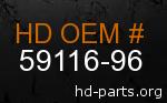 hd 59116-96 genuine part number