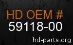 hd 59118-00 genuine part number