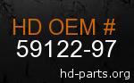 hd 59122-97 genuine part number