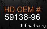 hd 59138-96 genuine part number