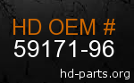 hd 59171-96 genuine part number