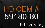 hd 59180-80 genuine part number
