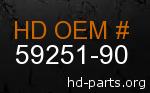hd 59251-90 genuine part number