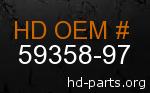 hd 59358-97 genuine part number