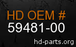 hd 59481-00 genuine part number
