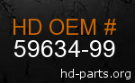 hd 59634-99 genuine part number
