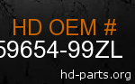 hd 59654-99ZL genuine part number