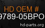 hd 59789-05BPO genuine part number