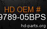 hd 59789-05BPS genuine part number