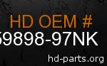 hd 59898-97NK genuine part number