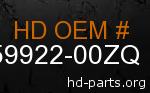 hd 59922-00ZQ genuine part number