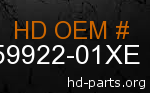 hd 59922-01XE genuine part number