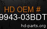 hd 59943-03BDT genuine part number