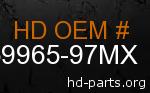 hd 59965-97MX genuine part number
