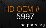 hd 5997 genuine part number