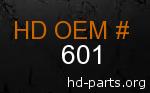 hd 601 genuine part number