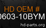 hd 60603-10BYM genuine part number