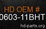 hd 60603-11BHT genuine part number