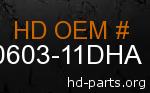 hd 60603-11DHA genuine part number
