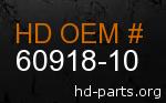 hd 60918-10 genuine part number